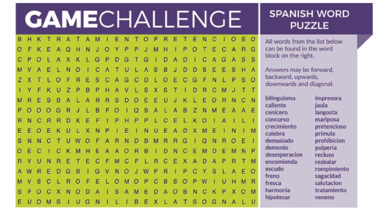 Spanish Word Puzzle
