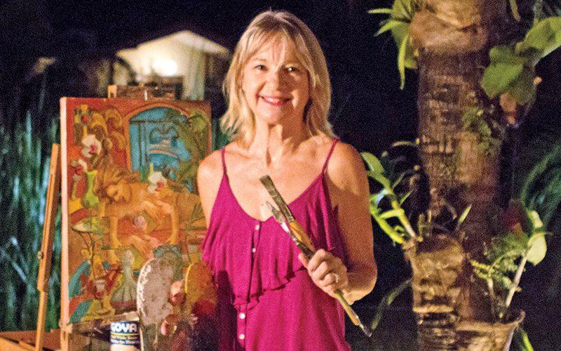 Susan Adams painting in Costa RIca