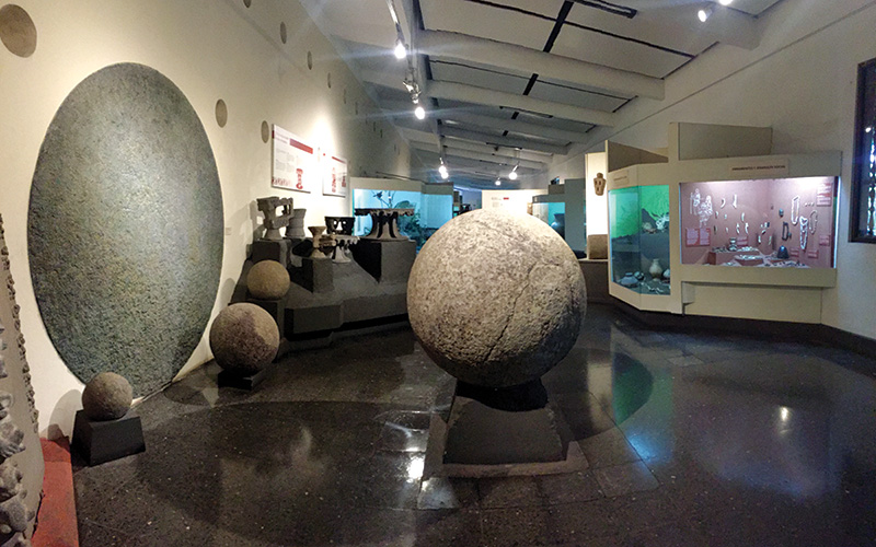 Inside the National Museum of Costa Rica