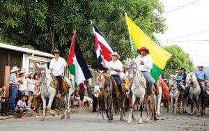 horses in the fiestas in costa rica